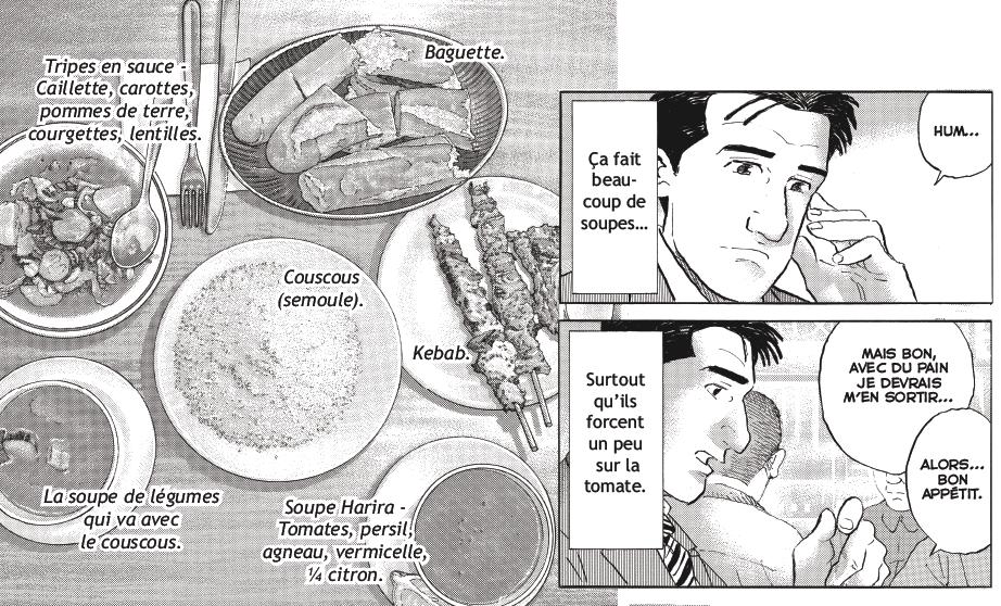 Extrait des Rêveries d'un gourmet solitaire. (crédit: J.Taniguchi/Casterman)