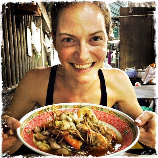 crevettes food trotter thailande